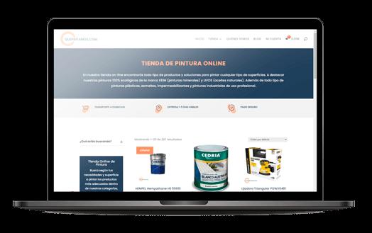 navegador web tienda online pintura